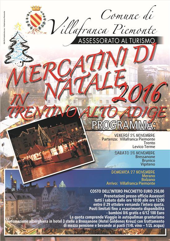 Mercatini di natale 2016 in trentino alto adige - Mercatini piemonte oggi ...